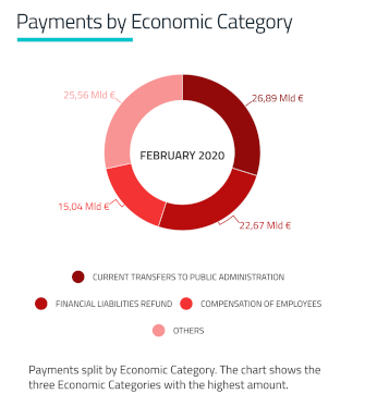 Grafico Payment by Economic Category